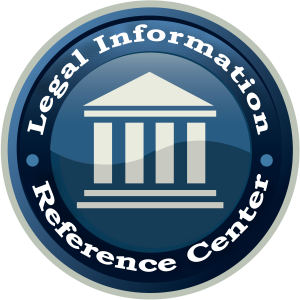 Legal Information Reference Center logo with icon of building with columns in the center
